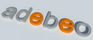 Logo adebeo avec SketchUp Kerkythea