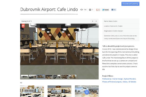 Dubrovnik Airport: Cafe Lindo