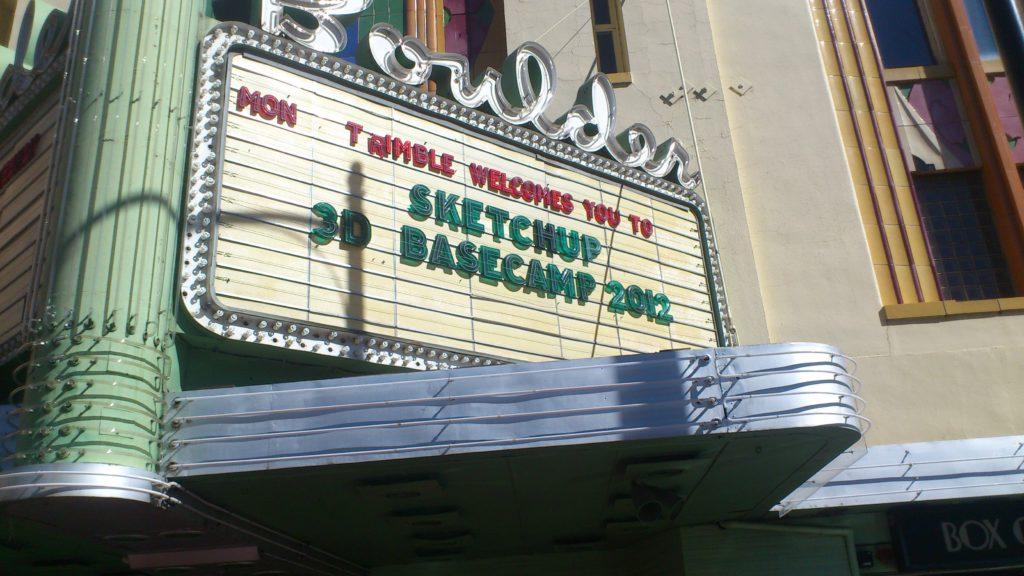 affiche du Sketchup Base camps 2012