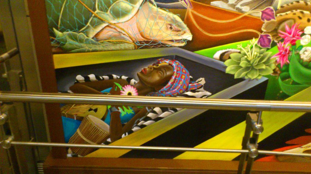 Peinture dans l'aeroport de Denvers