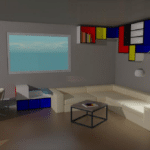 agencement décoration sketchup