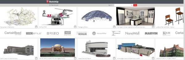 nouvelle banque d'image 3D sketchup