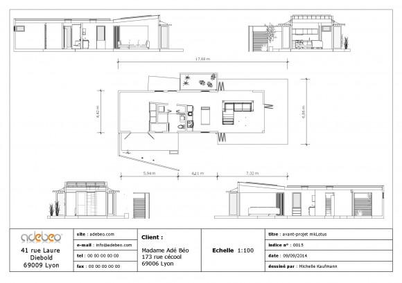 plan mkLotus sketchup 2D