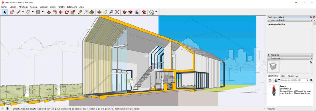 sketchup décoration d'intérieur décorateur architecture archi architectes d'intérieurs