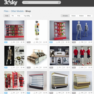 3dsky objets 3D détaillés